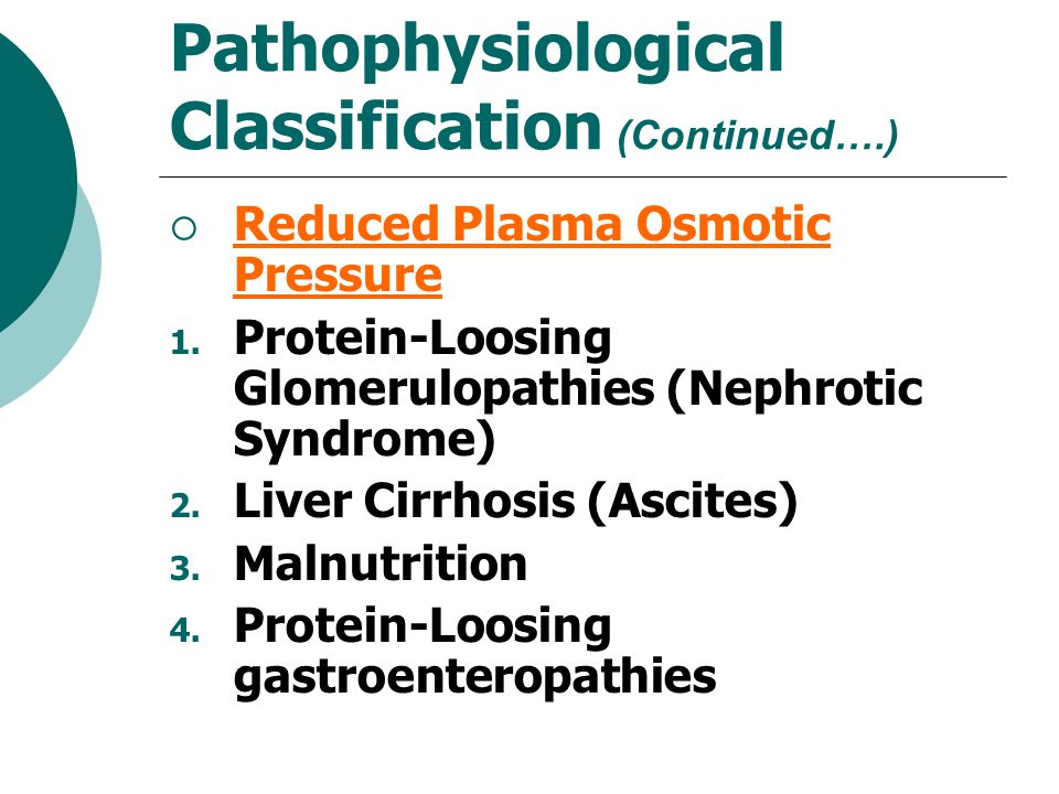 Pathophysiological Classification (Continued….)