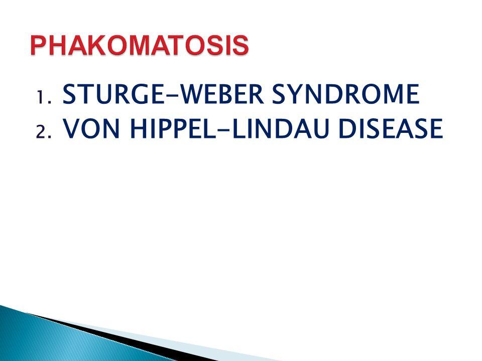 PHAKOMATOSIS STURGE-WEBER SYNDROME VON HIPPEL-LINDAU DISEASE