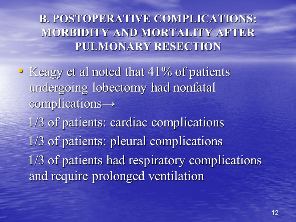 1/3 of patients: cardiac complications