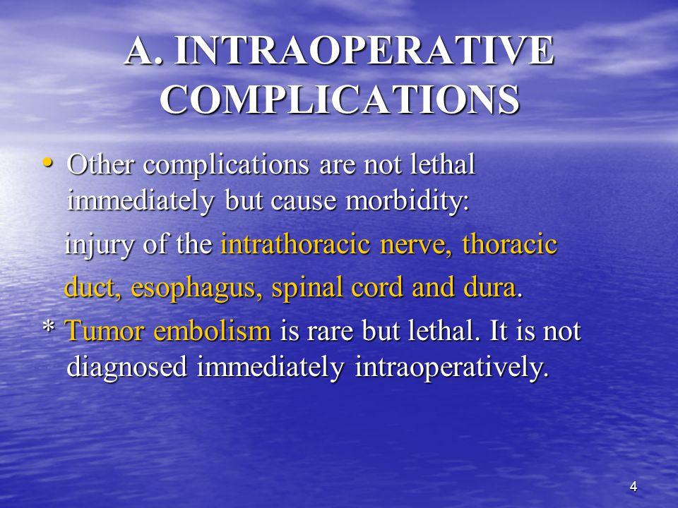 A. INTRAOPERATIVE COMPLICATIONS