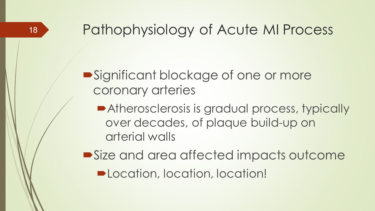 Pathophysiology of Acute MI Process