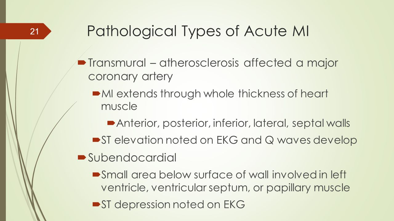 Pathological Types of Acute MI