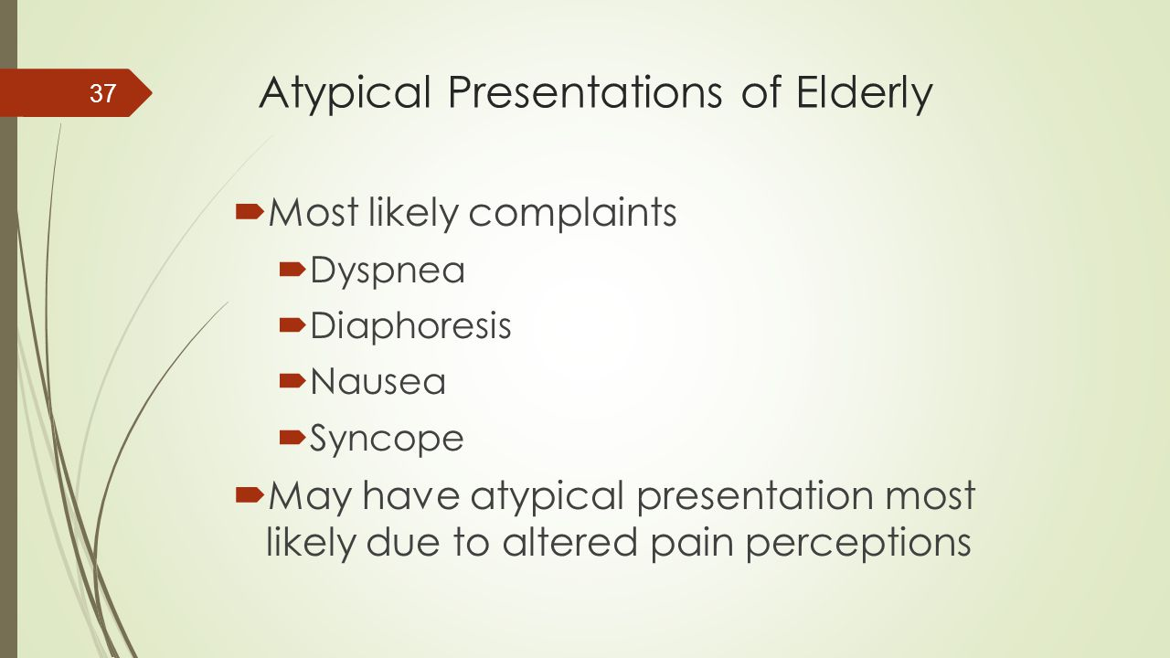 Atypical Presentations of Elderly