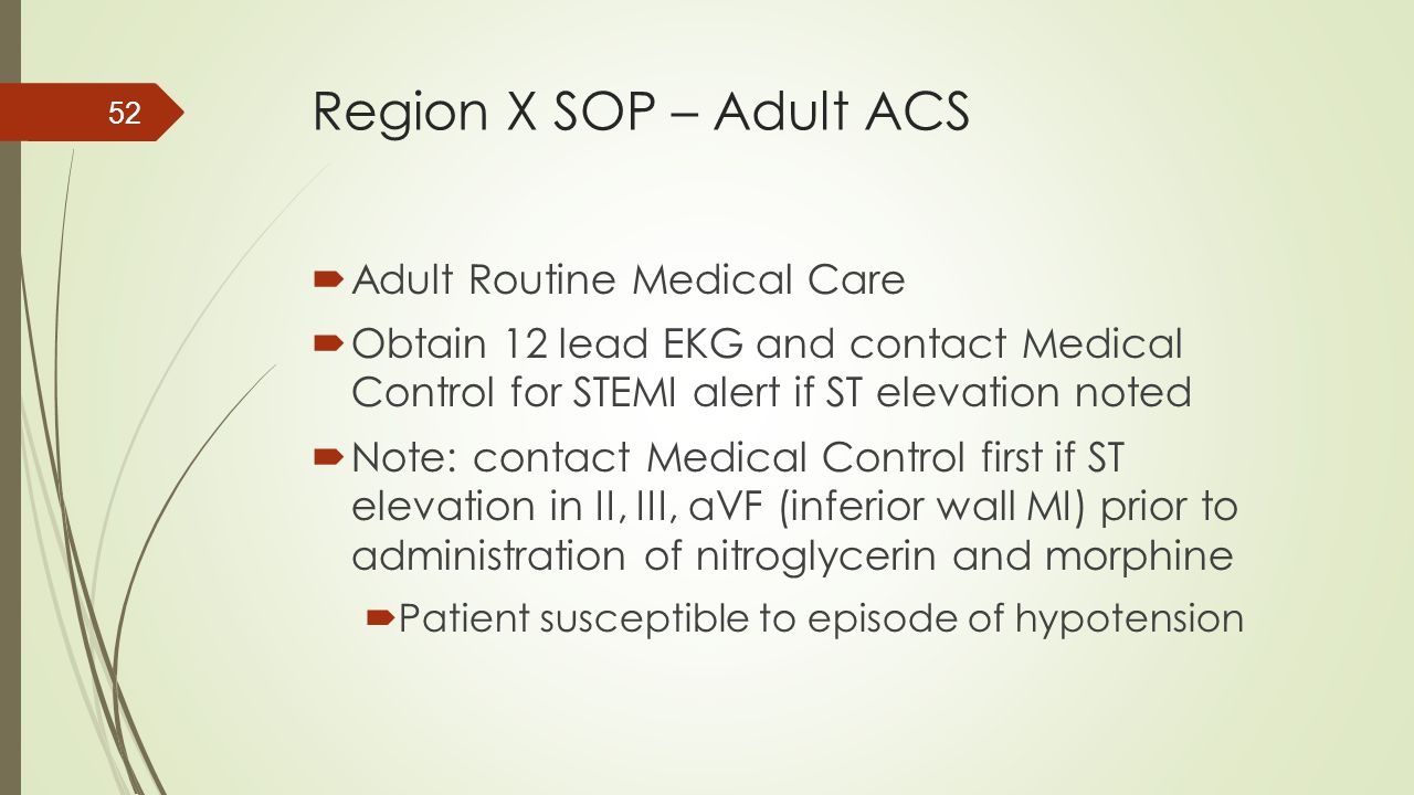 Region X SOP – Adult ACS Adult Routine Medical Care