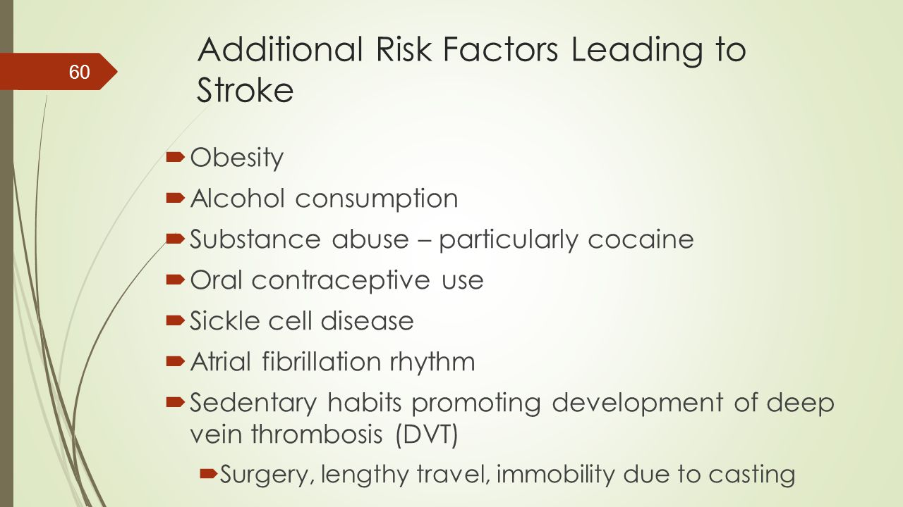 Additional Risk Factors Leading to Stroke
