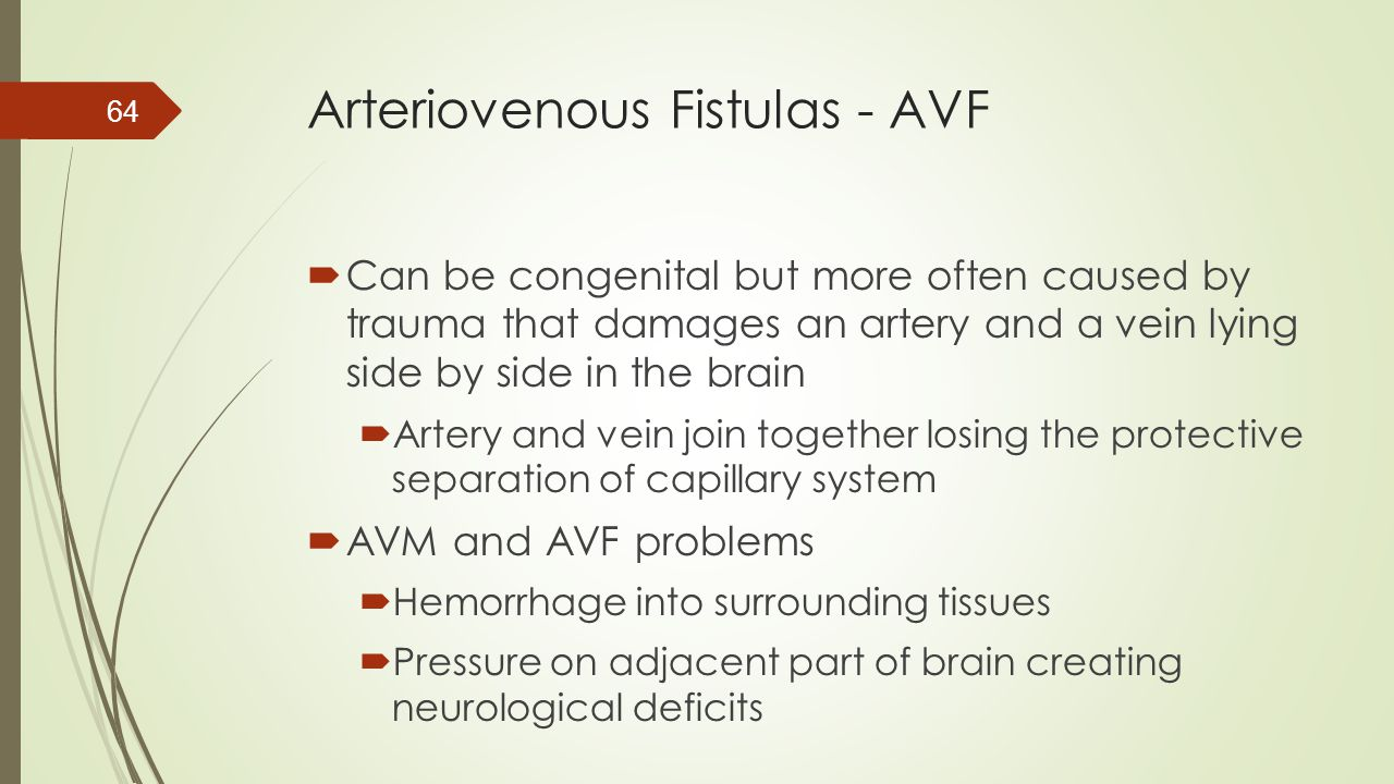 Arteriovenous Fistulas - AVF