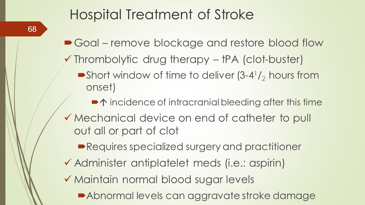 Hospital Treatment of Stroke