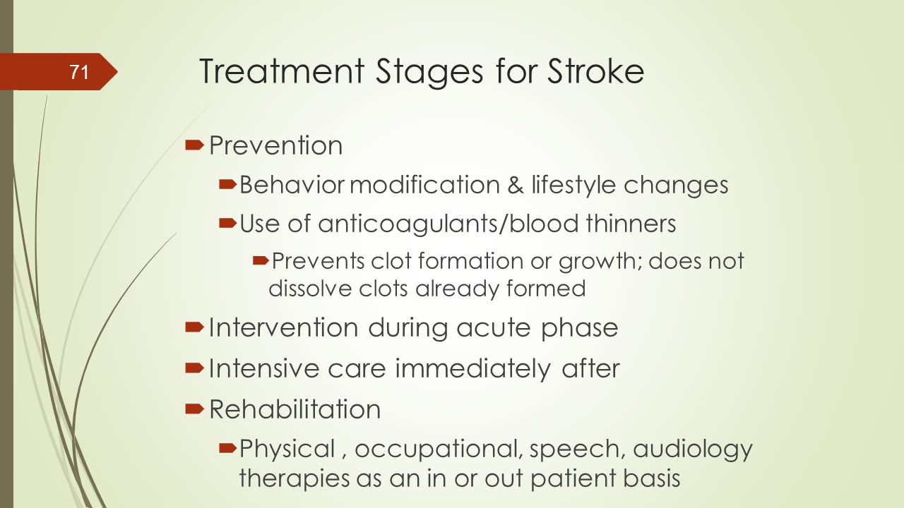 Treatment Stages for Stroke