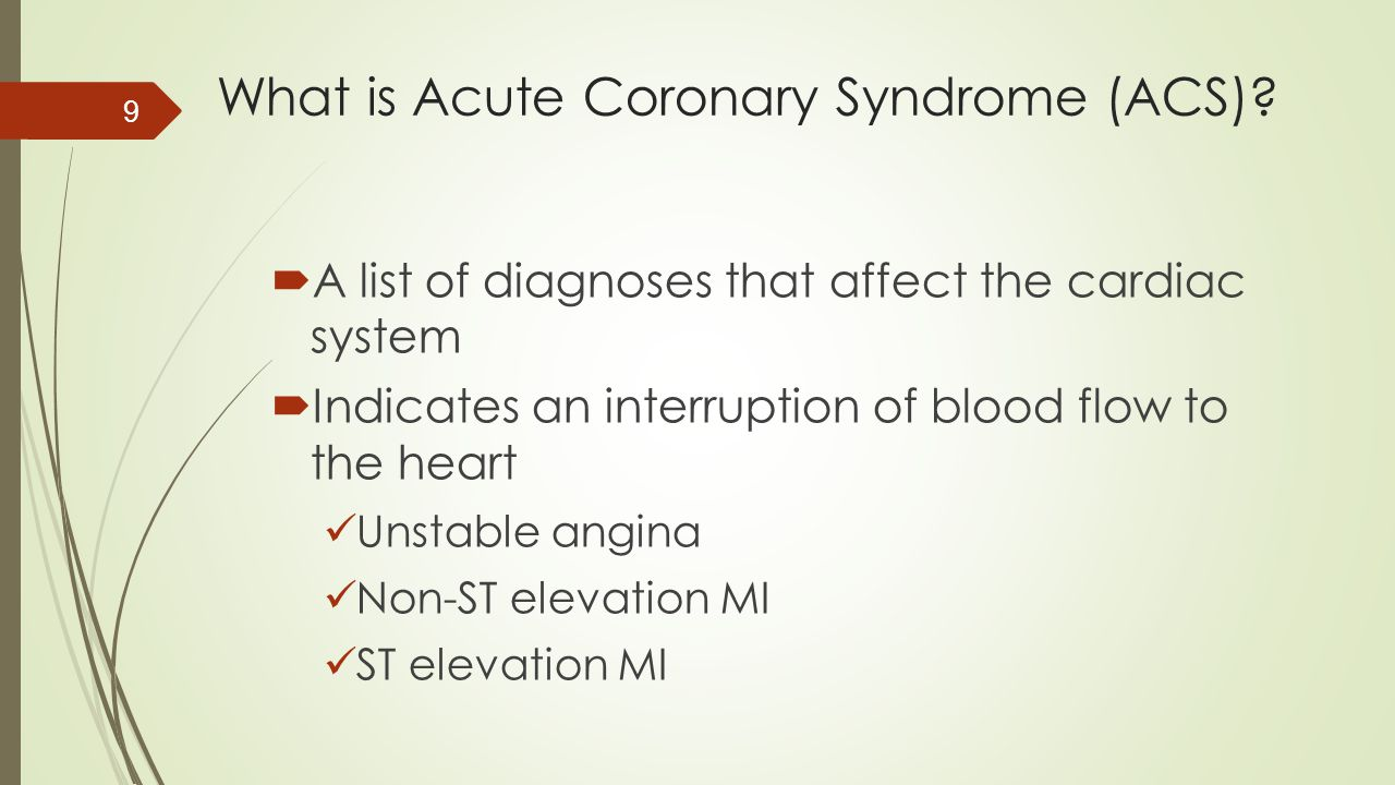 What is Acute Coronary Syndrome (ACS)