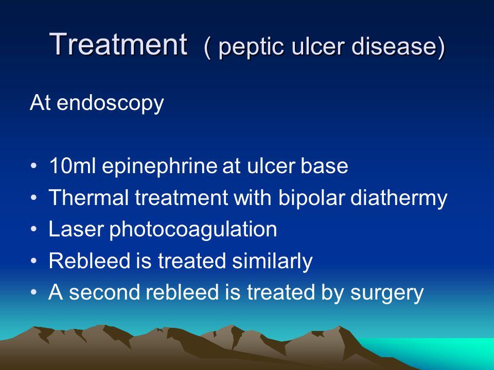 Treatment ( peptic ulcer disease)