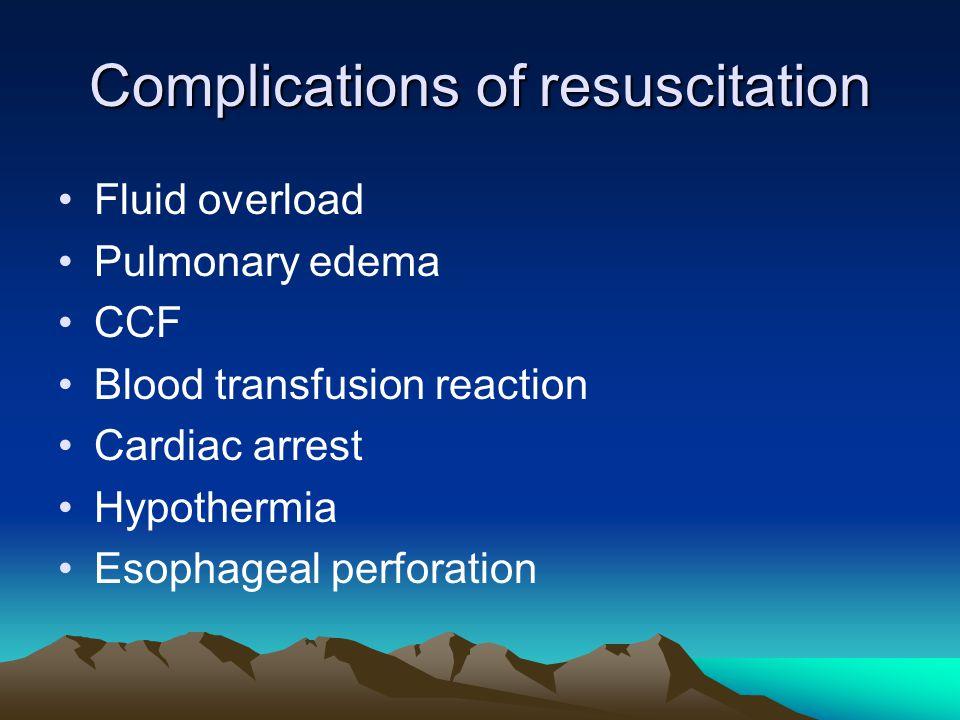 Complications of resuscitation