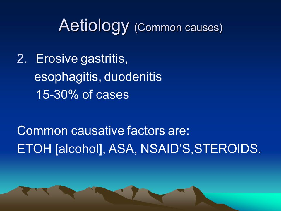 Aetiology (Common causes)