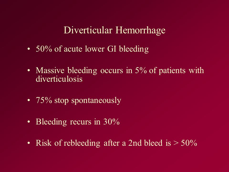 Diverticular Hemorrhage