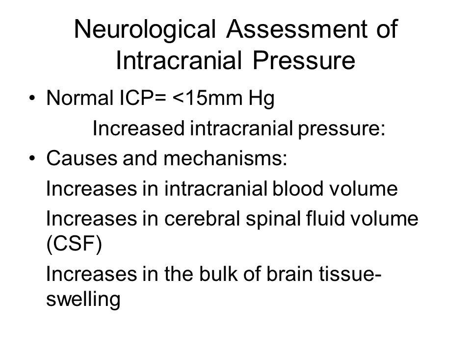Neurological Assessment of Intracranial Pressure
