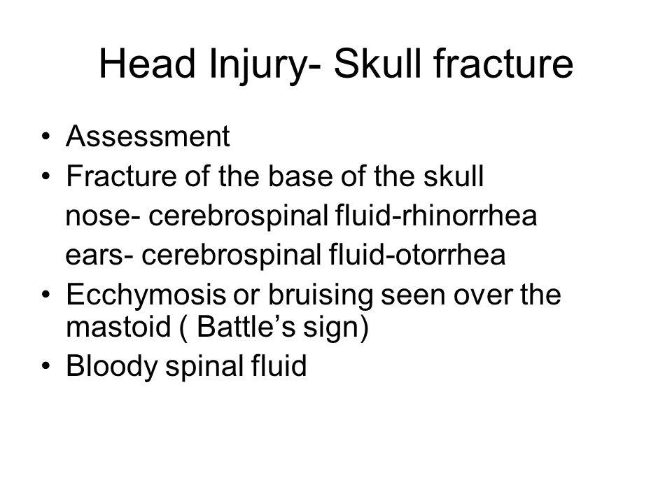 Head Injury- Skull fracture