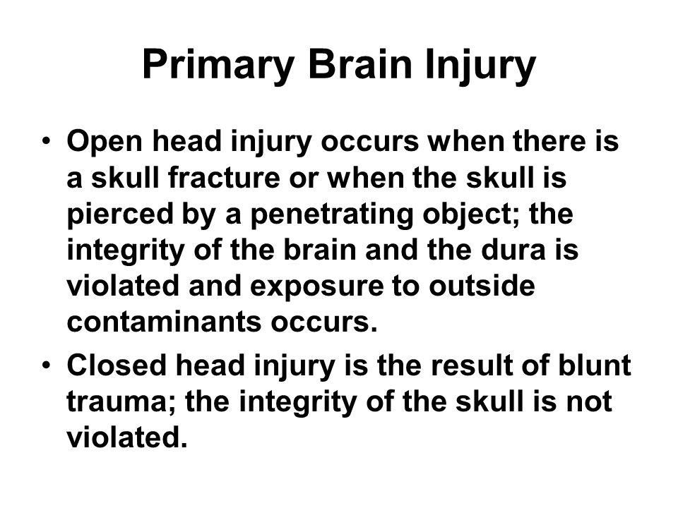 Primary Brain Injury