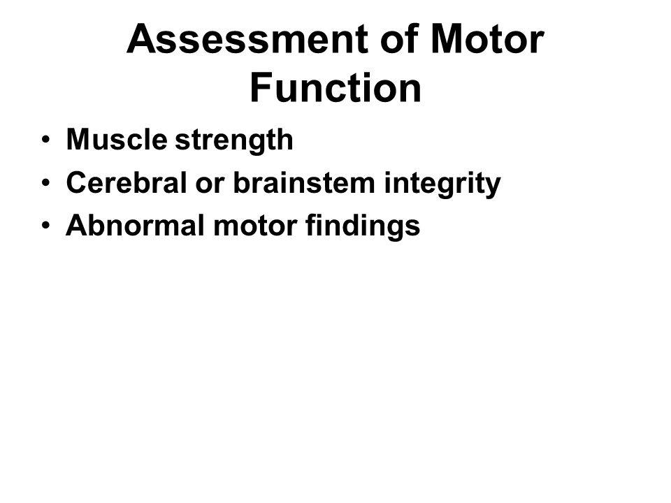 Assessment of Motor Function