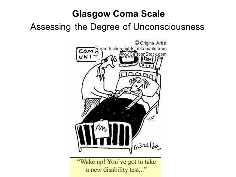 Glasgow Coma Scale Assessing the Degree of Unconsciousness