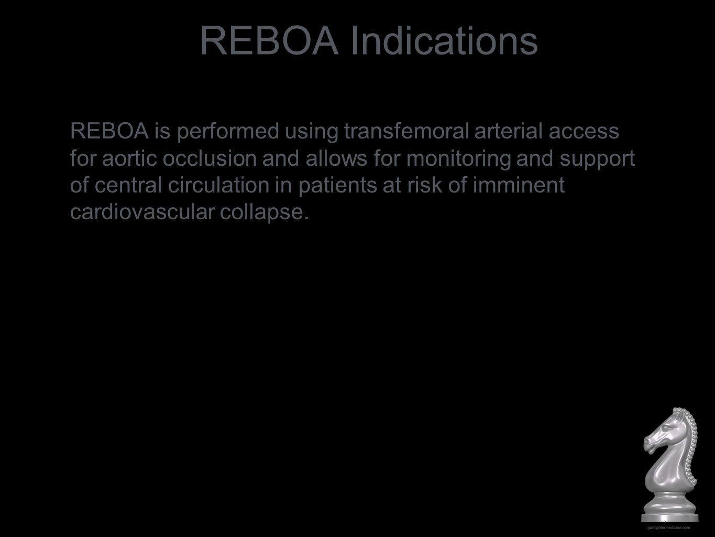 REBOA Indications