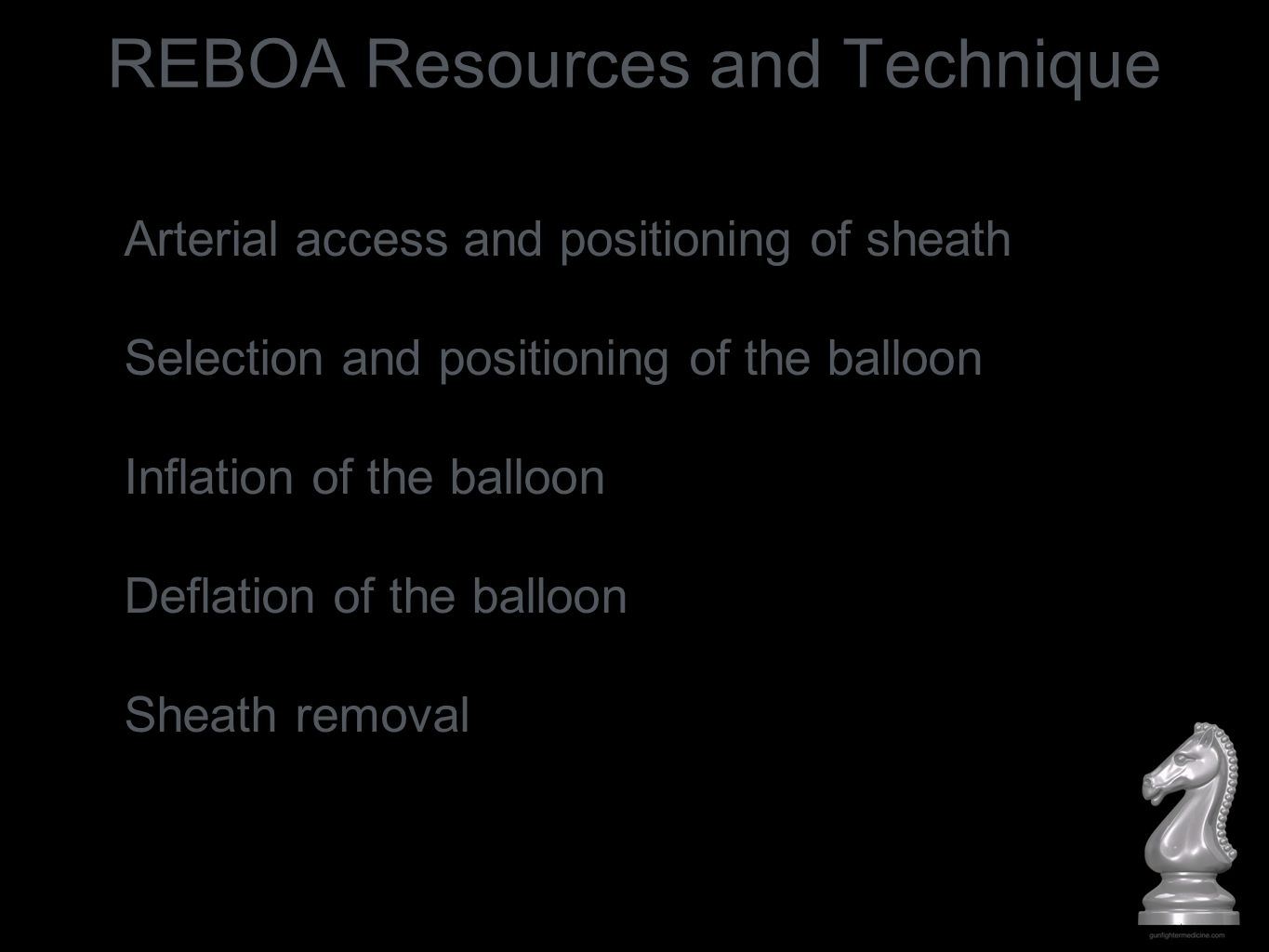 REBOA Resources and Technique