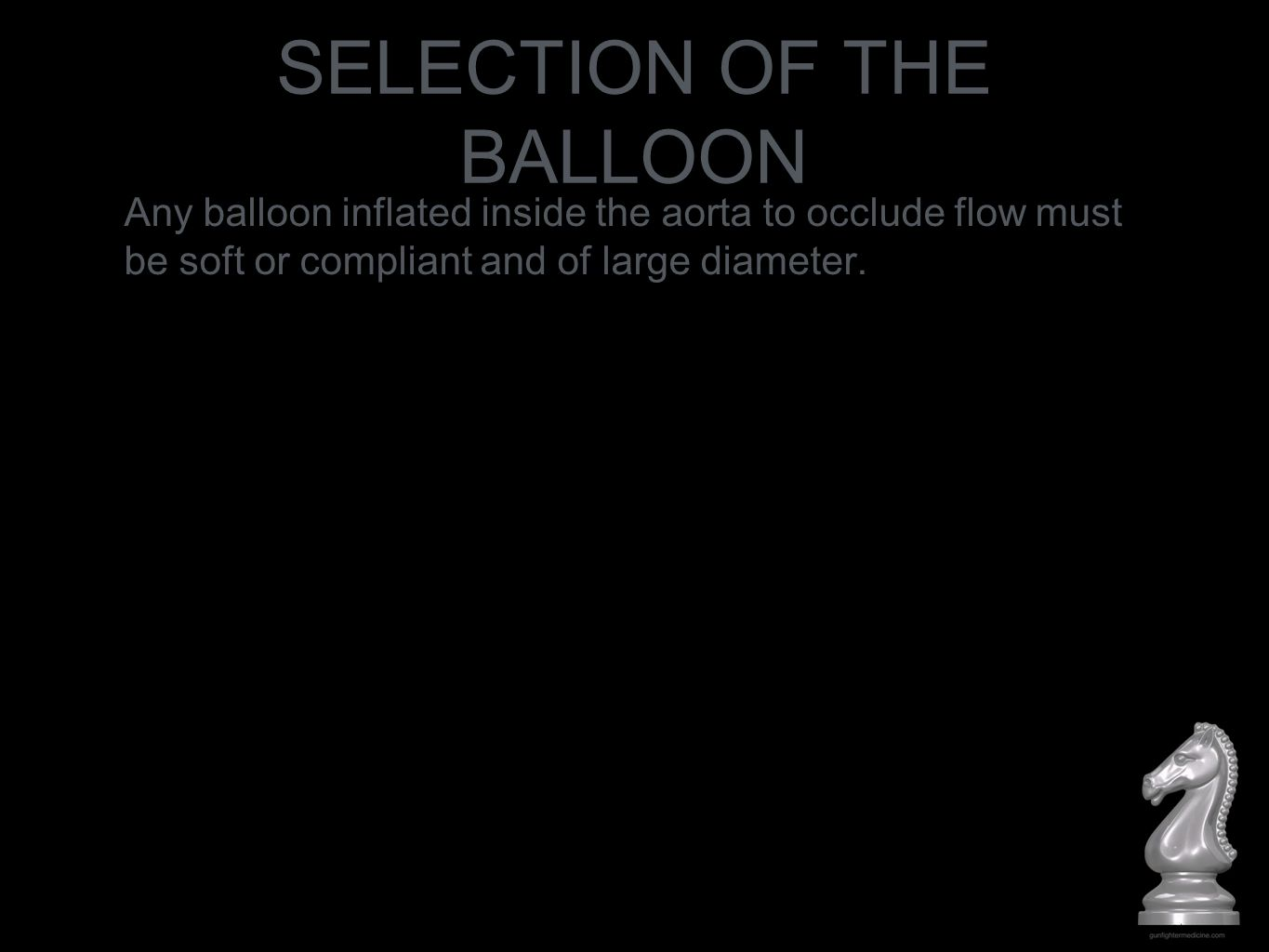 SELECTION OF THE BALLOON