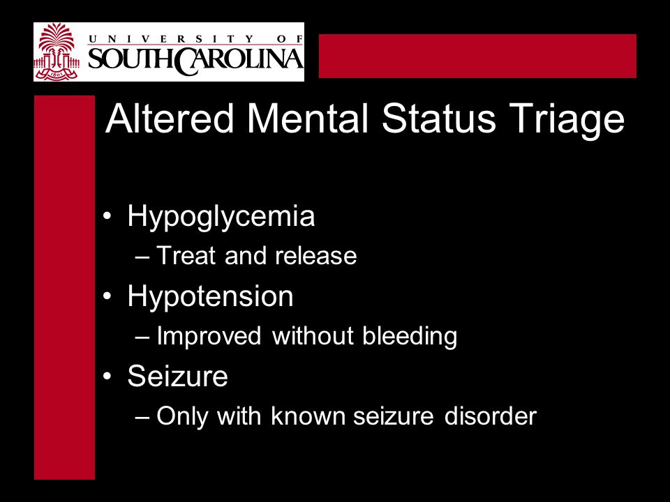 Altered Mental Status Triage