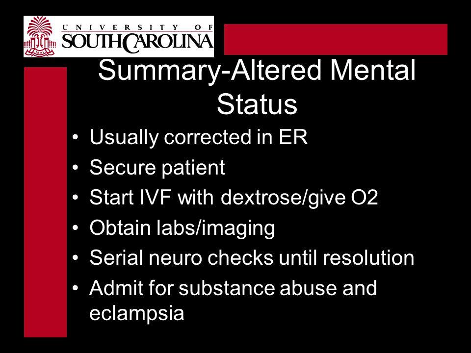 Summary-Altered Mental Status
