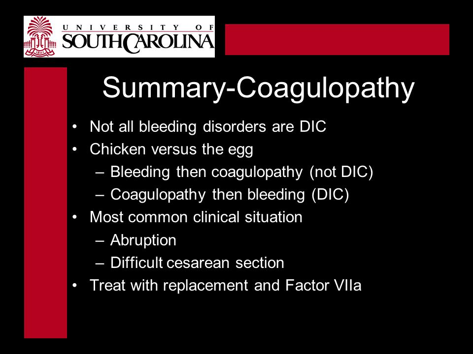 Summary-Coagulopathy