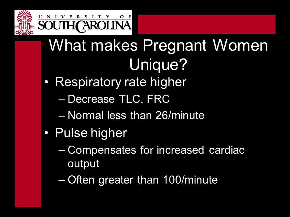 What makes Pregnant Women Unique