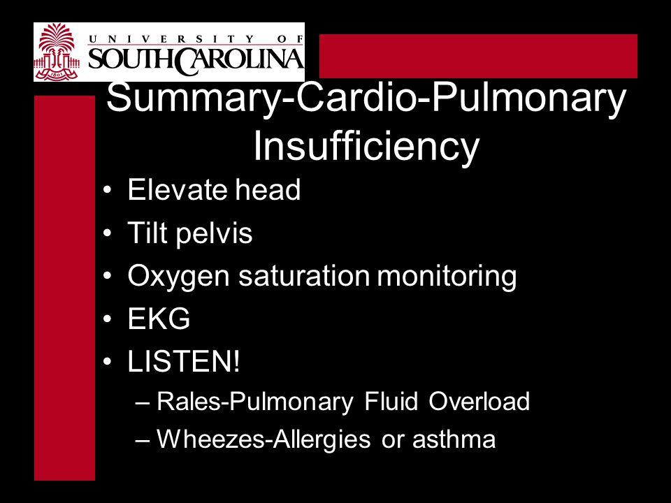 Summary-Cardio-Pulmonary Insufficiency