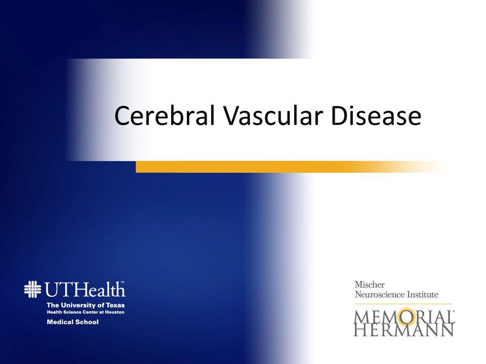 Cerebral Vascular Disease