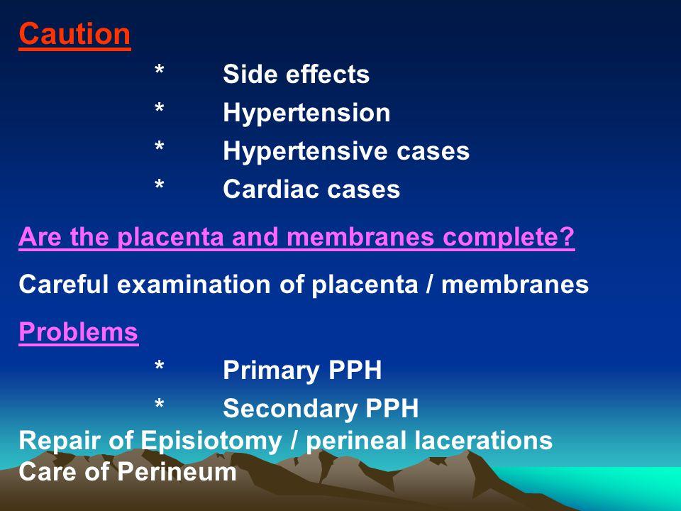 Caution * Hypertension * Hypertensive cases * Cardiac cases