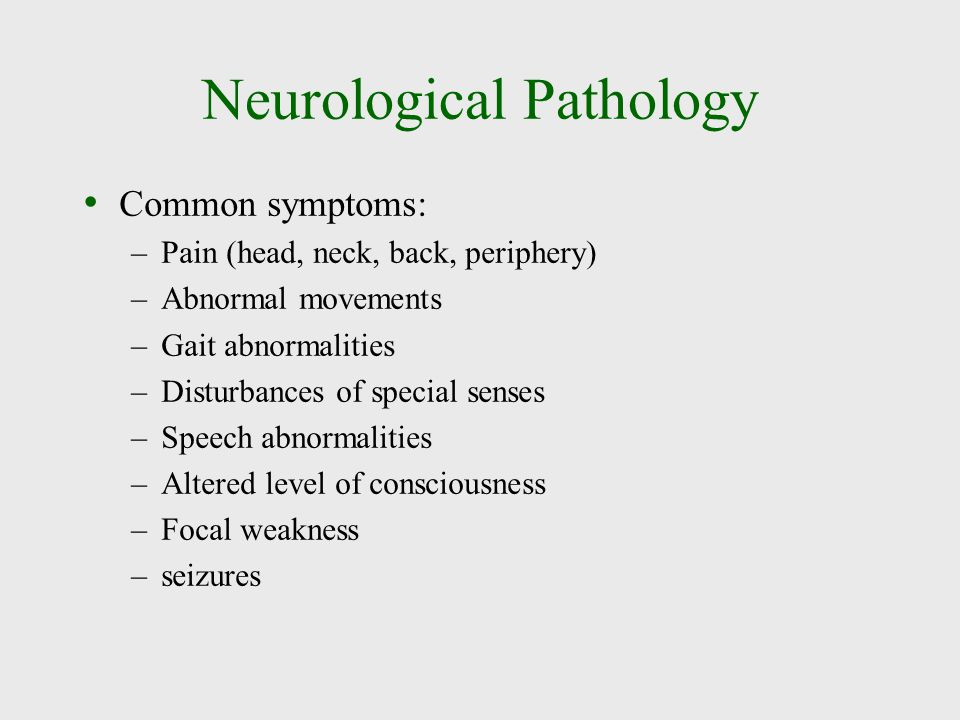 Neurological Pathology