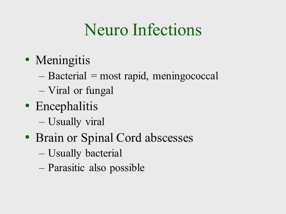 Neuro Infections Meningitis Encephalitis