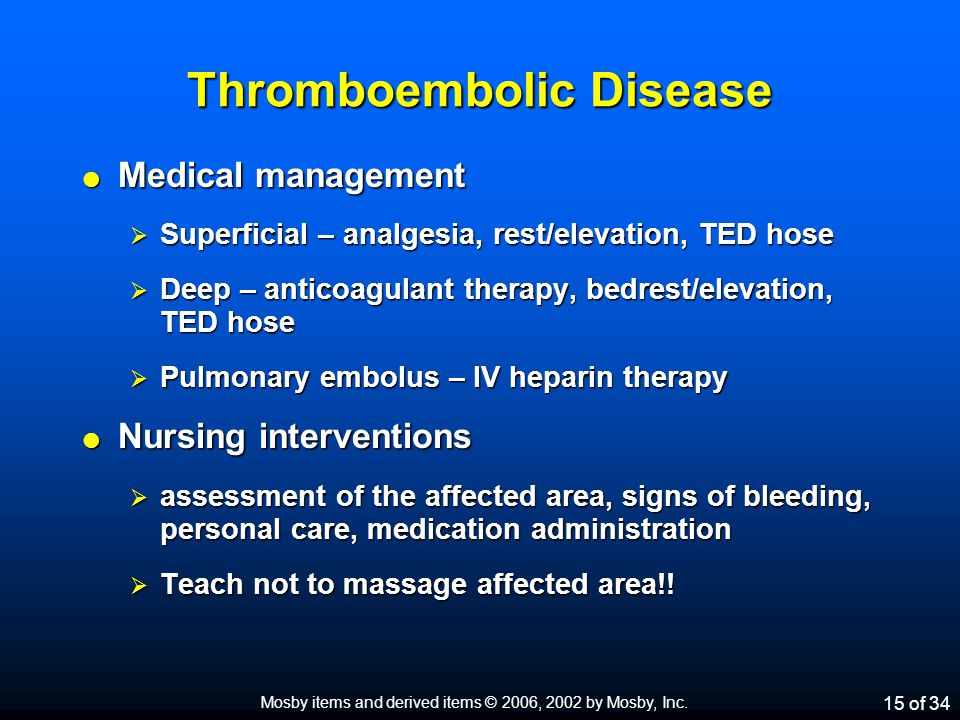 Thromboembolic Disease