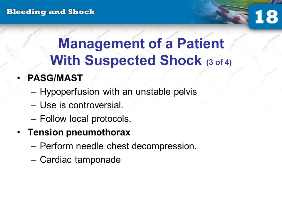 Management of a Patient With Suspected Shock (4 of 4)