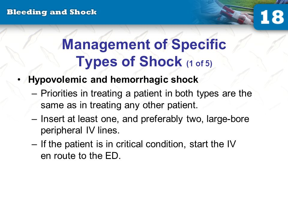 Management of Specific Types of Shock (2 of 5)