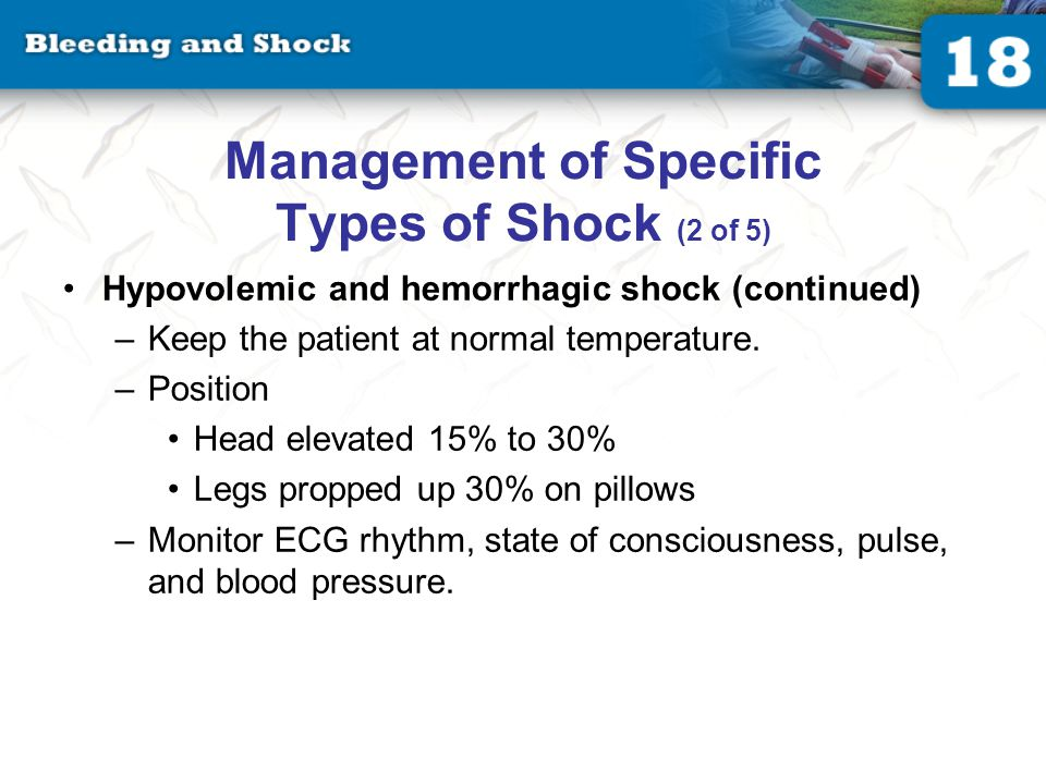 Management of Specific Types of Shock (3 of 5)