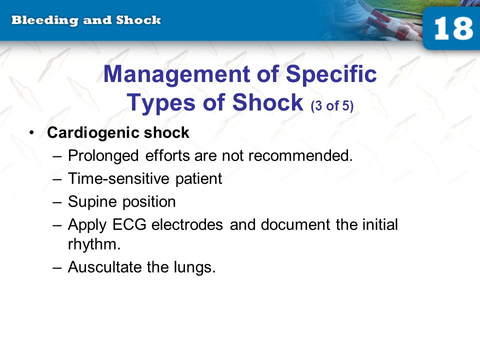 Management of Specific Types of Shock (4 of 5)