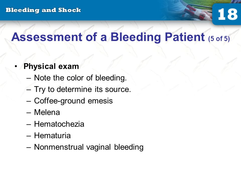 Management of a Bleeding Patient (1 of 3)
