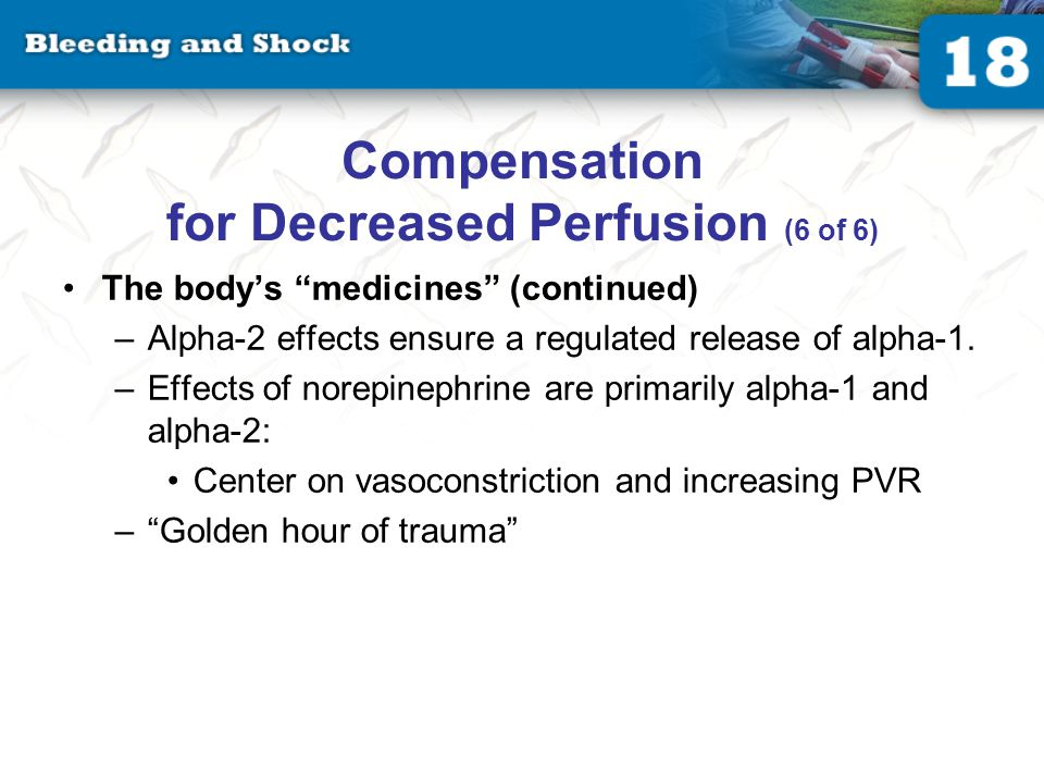 Types of Shock (1 of 4) Impairment of cellular metabolism