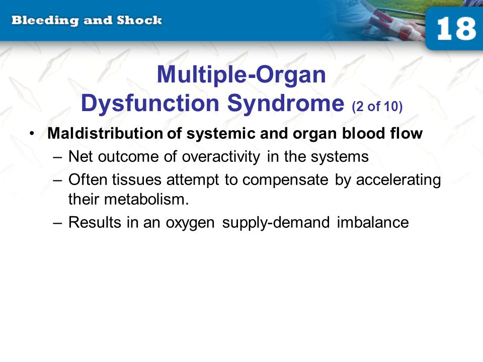 Multiple-Organ Dysfunction Syndrome (3 of 10)