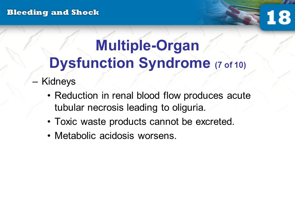 Multiple-Organ Dysfunction Syndrome (8 of 10)