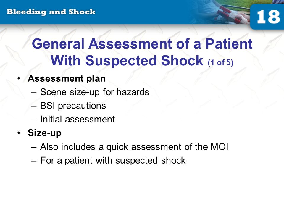 General Assessment of a Patient With Suspected Shock (2 of 5)