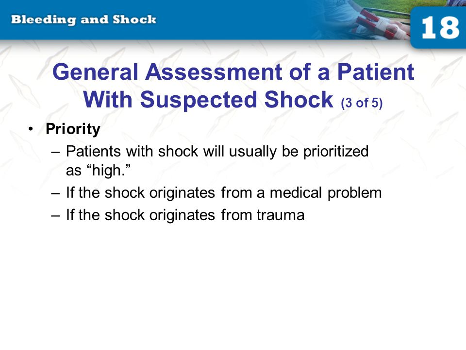 General Assessment of a Patient With Suspected Shock (4 of 5)