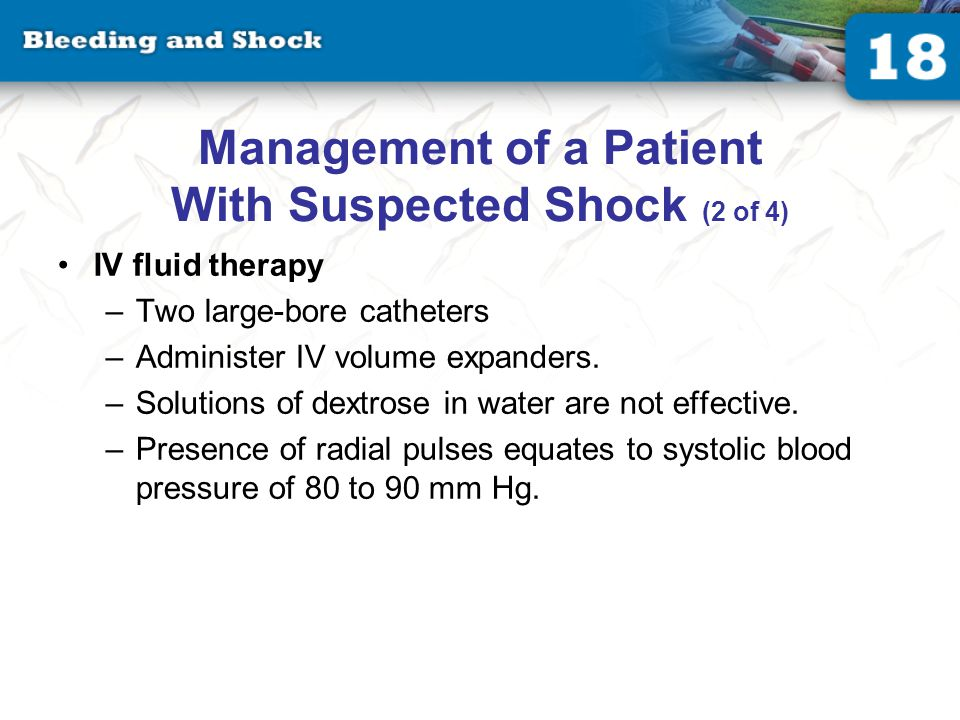 Management of a Patient With Suspected Shock (3 of 4)