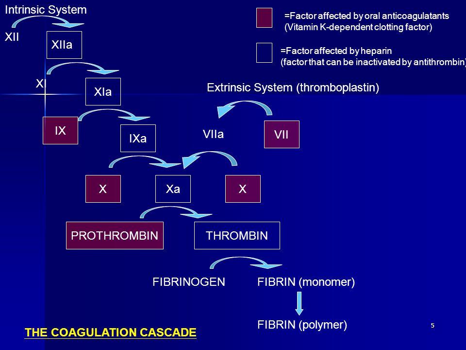 Extrinsic System (thromboplastin)