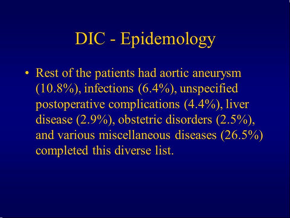 DIC - Epidemology
