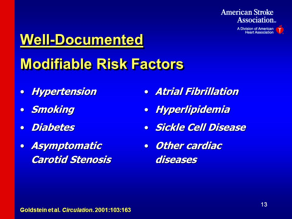 Well-Documented Modifiable Risk Factors