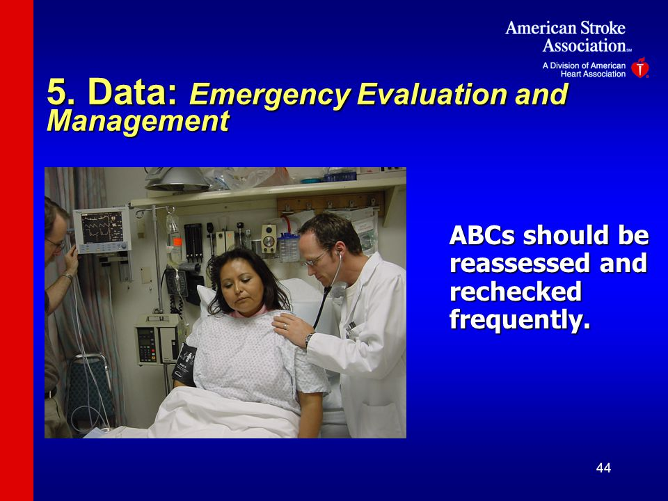 5. Data: Emergency Evaluation and Management